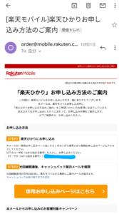 楽天モバイル メール