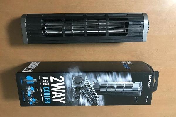 熱対策!エレコム:USB扇風機 / FAN-U177BK