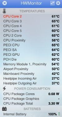 MacBookAir 温度
