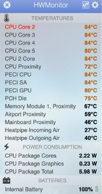 MacBookAir 温度 高い