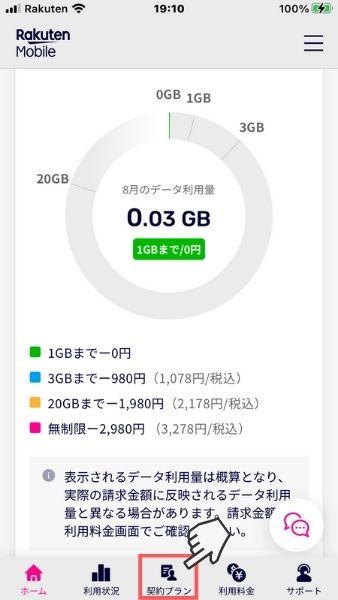 my 楽天モバイル トップページ